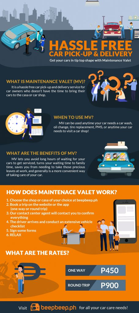Maintenance Valet - hassle free car pickup and delivery