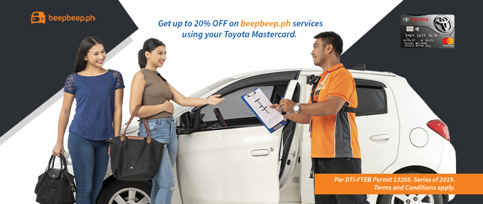 beepbeep.ph is partnering with Metrobank to make car services more value for your wallet through discounts