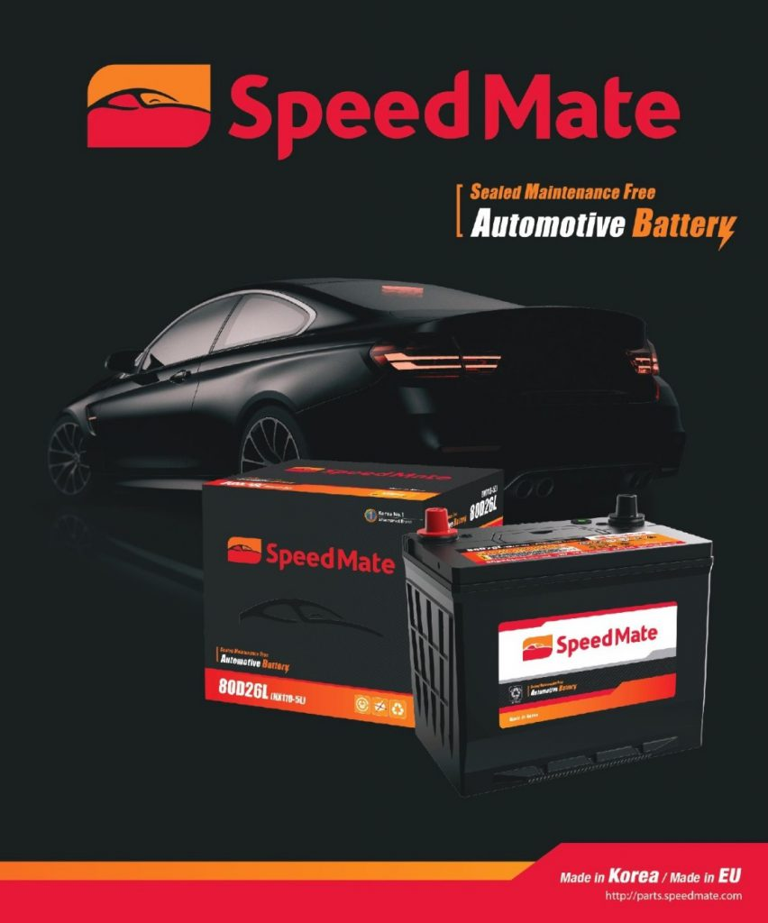 speedmate the number 1 car battery brand in korea partnering with rapide philippines