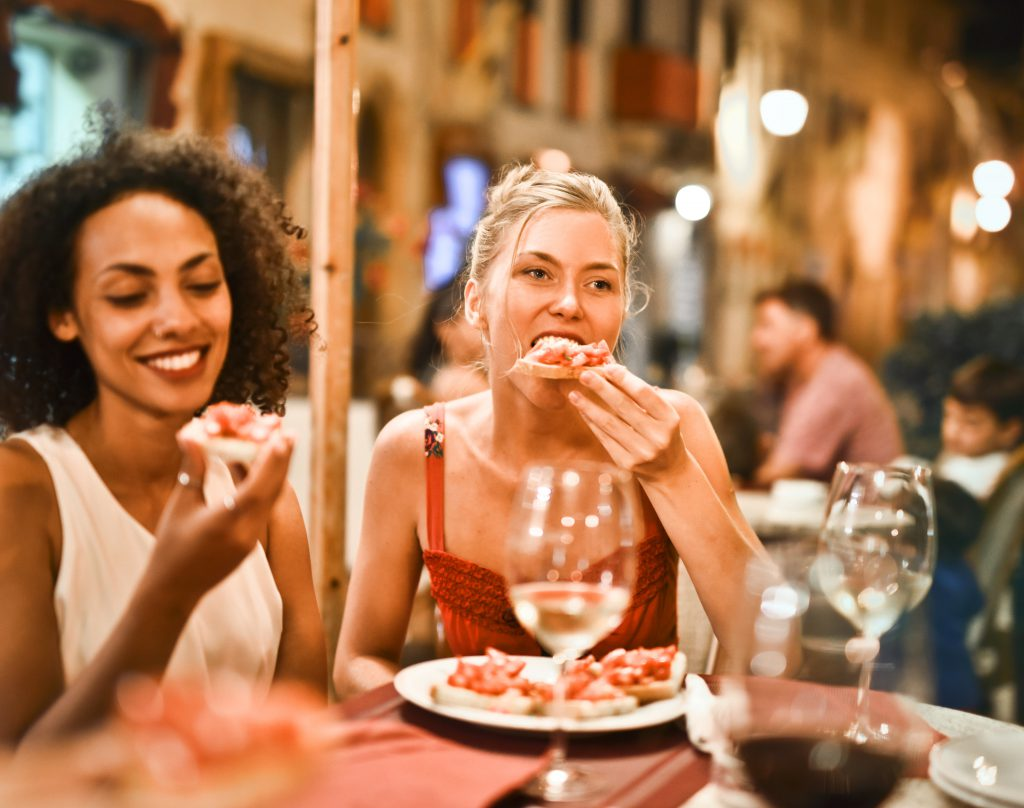 night out with friends eat restaurant drink liquor food picnic outdoors