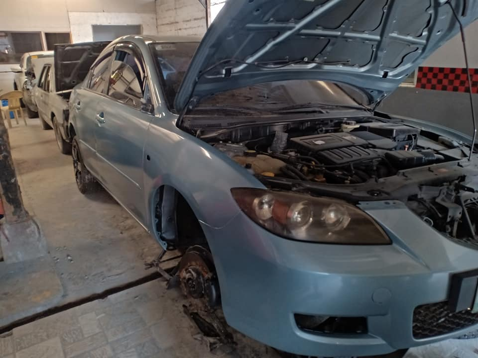 collision repair chassis body restoration dent bumps old new car shop cavite