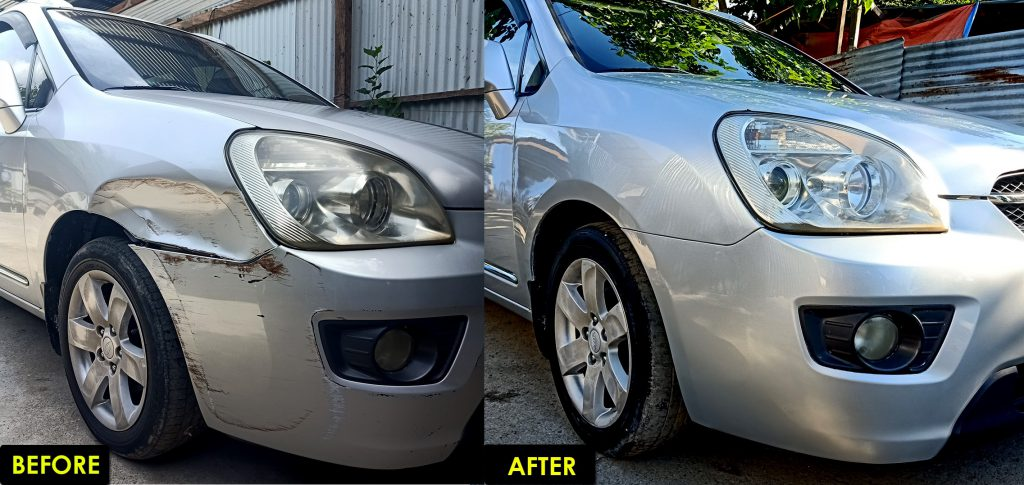 before after image collision repair in cars 101 dents scratches paint