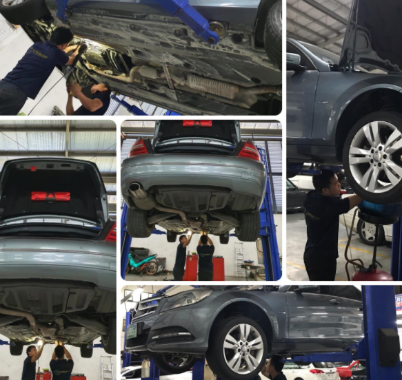 underchassis cars mercedes benz repair mechanical electric maintenance