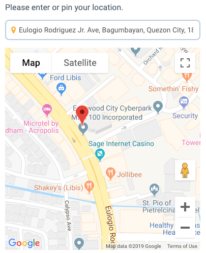 Pin your location on the map